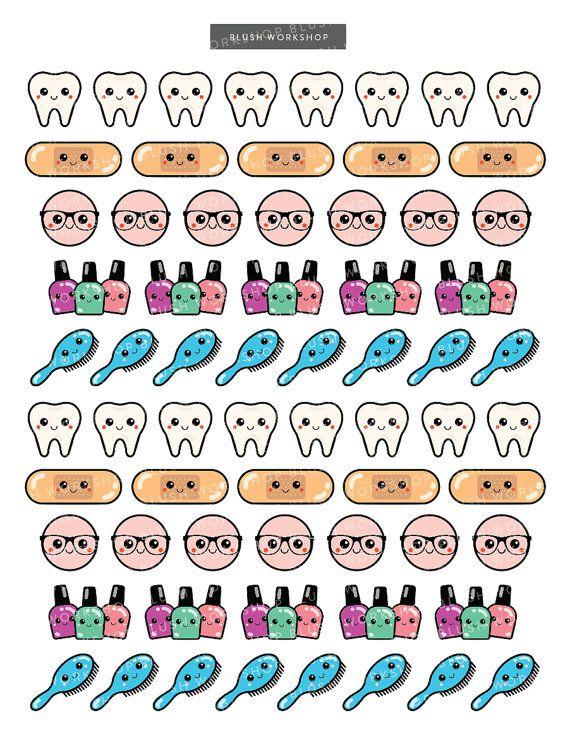 Calendar Planner Reminder Stickers : Appointment reminder stickers kawaii planner by