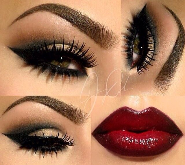Pretty vamp makeup