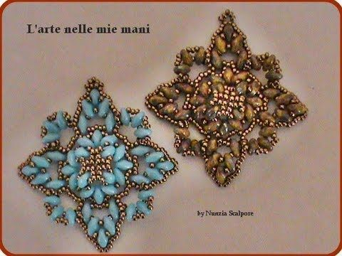 "Tutorial pendant ""Embrace"" using superduo beads - YouTube."