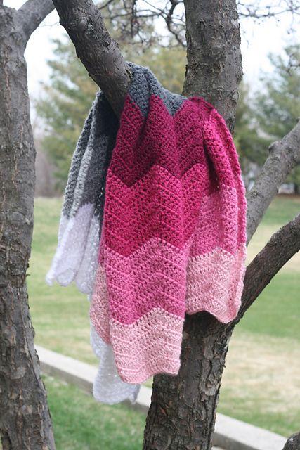 Ravelry: kellylane6's Ombre Chevron Baby Blanket