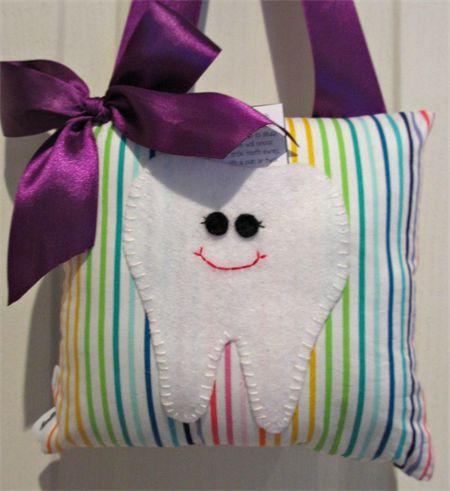 Rainbow tooth fairy pillow madeit.com.au/moobearcreations