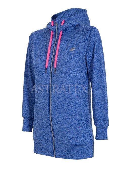 Hanorac sport de dama 4F Blue melange - Astratex.ro