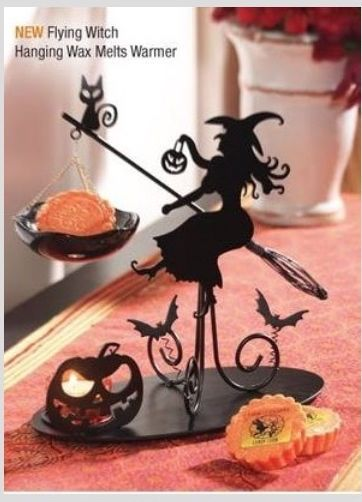 NEW Halloween 2015 YANKEE CANDLE Flying Witch Hanging Tart Warmer in Home & Garden, Home Décor, Candle Holders & Accessories | eBay