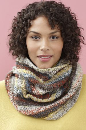 Image of Cedar Springs Cowl - Free ez knit pattern in the round.