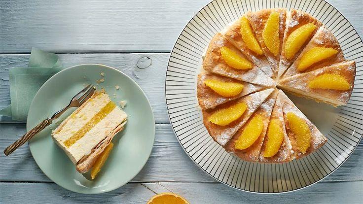 Tort serowy z nutą pomarańczy