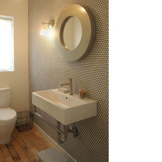 wooden floor + tiles