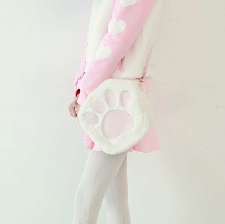 Buy Mori Girl Clothes Bags on Mori Girl の森ガール.Mori Cute Pink Kitty Footpad Bags Cute Plush Messenger Bag know you best than yourself !