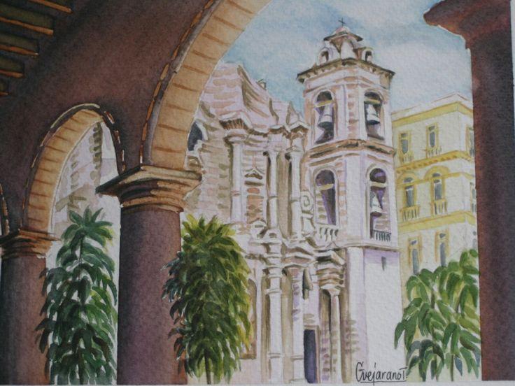 La Habana ~ Acuarela - Gerardo Vejarano T.
