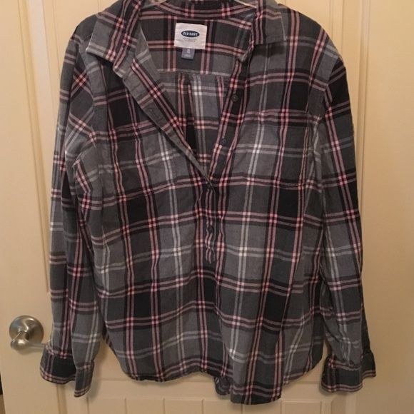 Old navy flannel tunic Cute XL flannel tunic Old Navy Tops Tunics