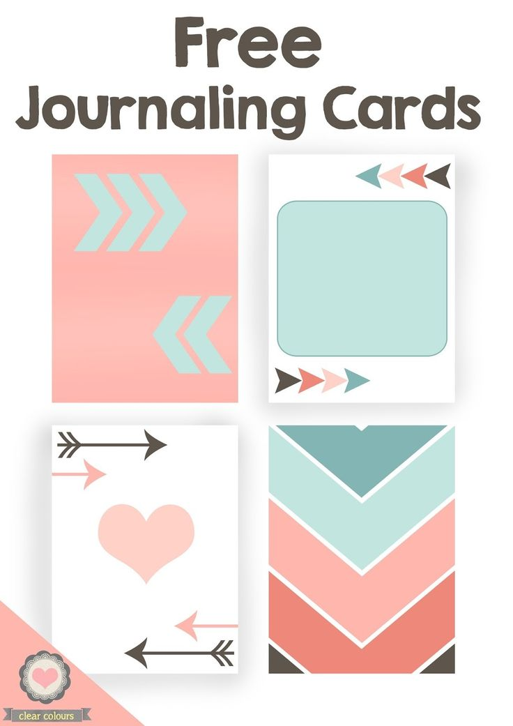 Free Journaling Cards from Clear Colours