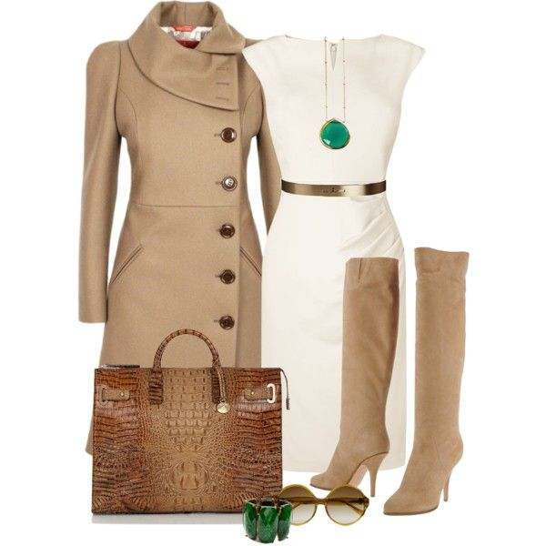 A fashion look from February 2013 featuring L.K.Bennett dresses, Vivienne Westwood Red Label coats and Givenchy boots. Browse and shop related looks.