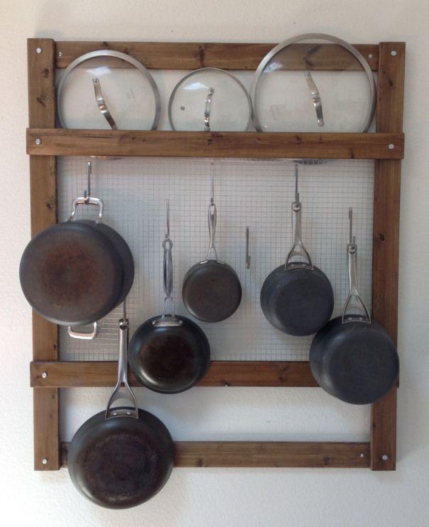 Super Simple Diy Wall Pot Rack Used