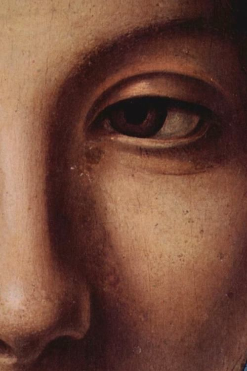 Antonello da Messina - Virgin Annunciate (c. 1476) in the Palazzo Abatellis in Palermo (detail)