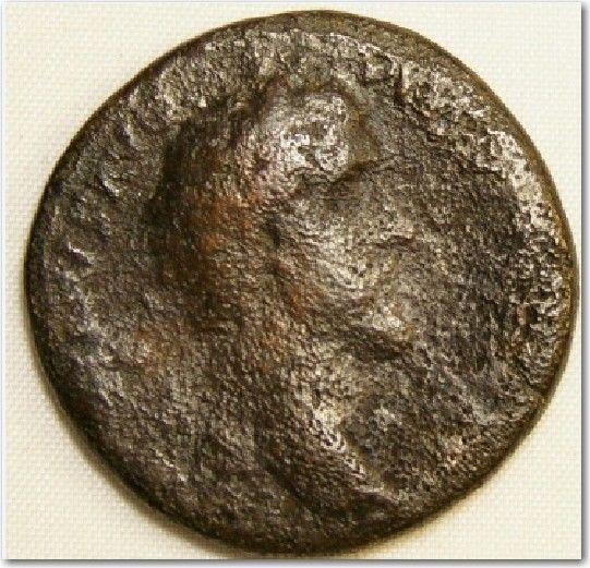 ROMAN AUTHENTIC COIN OBS HEAD OF ANTONINUS PIUS 138-161 AD REV TEMPLE OF VENUS