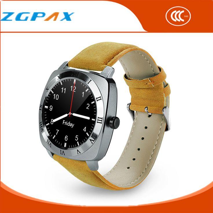 2016 Armbanduhr Mp3-player Smart Uhr Männer Leder Armband Smartwatch mit Kamera Klassischen Runden Bildschirm Bluetooth Uhren X3 //Price: $US $27.57 & FREE Shipping //     #meinesmartuhrende