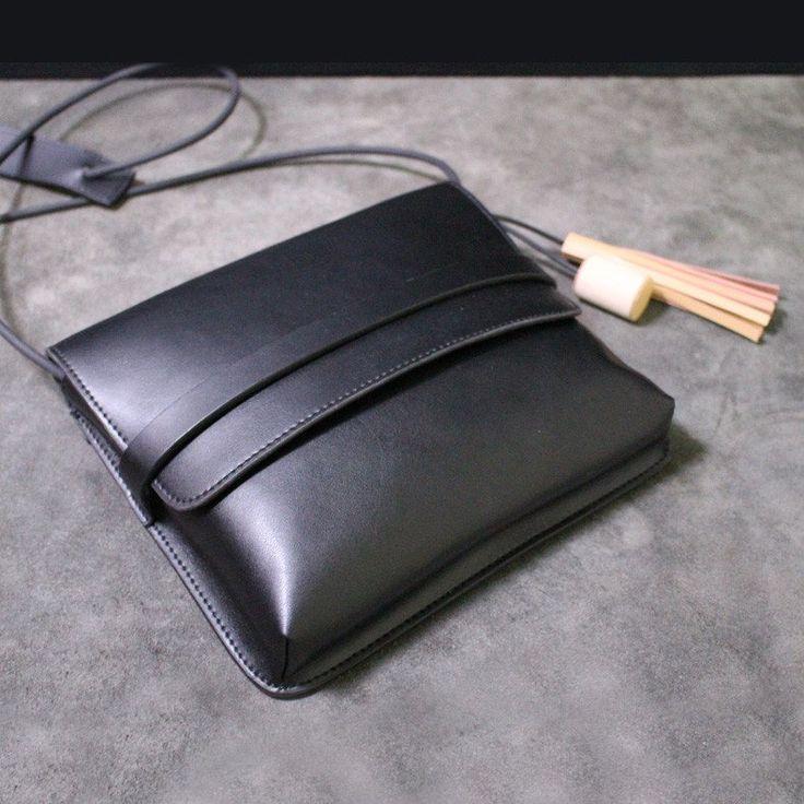 Ручной работы кожаный сумка сумка маленькая сумка 14069 - LISABAG - 2