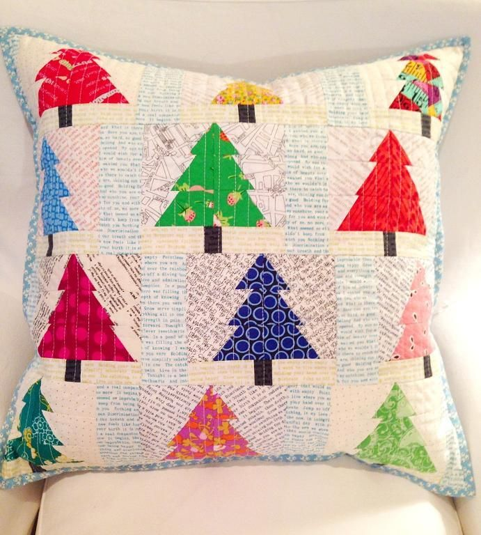 Christmas trees, ... by Tikki Patchwork   Quilting Pattern - Looking for your next project? You're going to love Christmas trees, pieced patchwork pillow by designer Tikki Patchwork. - via @Craftsy