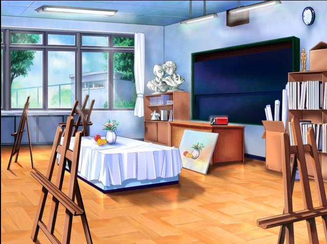 All Girls School Art Room Cenario Anime Sala De Arte Interiores