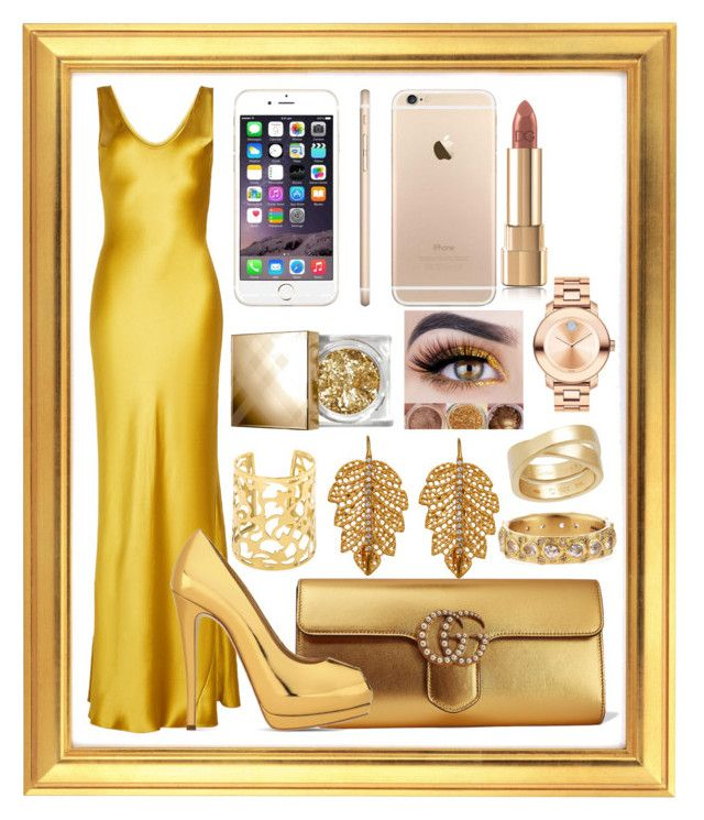 """""""GOLD"""" by mileyharbee on Polyvore featuring Galvan, Gucci, Giuseppe Zanotti, Marika, Armenta, Cartier, Burberry, Dolce&Gabbana and Movado"""