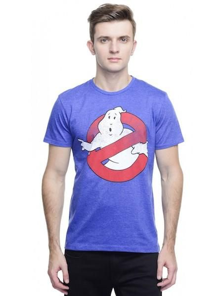 Ghostbusters Royal Blue Melange Crew Neck Half Sleeve T-Shirt by Bio World
