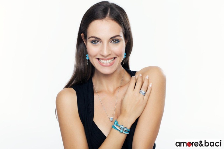 Amore & Baci 2013 campaign - TURQUOISE beads - necklace, bracelets, earrings, rings