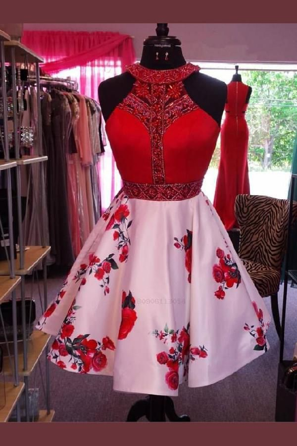 Customized Engrossing Red Homecoming Dresses, Pink Prom Dresses, Prom Dresses Short, A-Line Prom Dresses