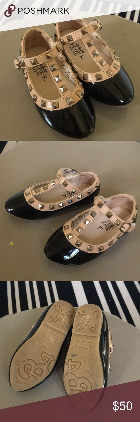 Chloe K. (Valentino look-alike) girls shoes! These are little girl/toddler size 5.5 black patent shoes! They look just like the Valentino rockstud flats and are precious for your little girl! In perfect condition! Chloe K Shoes Dress Shoes
