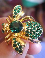 Редкий joan rivers изумрудно-зеленый камень мая пчела булавка