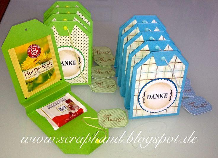 Scraphand: Layout und Teeverpackung