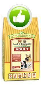 UK dog foods - James Wellbeloved lamb & rice kibble - good quality dog food www.naturalworldpets.co.uk