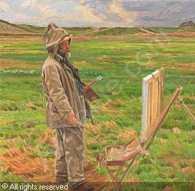 HANSEN Peter Marius - Fra Sæby, Viggo Johansen maler.  1916