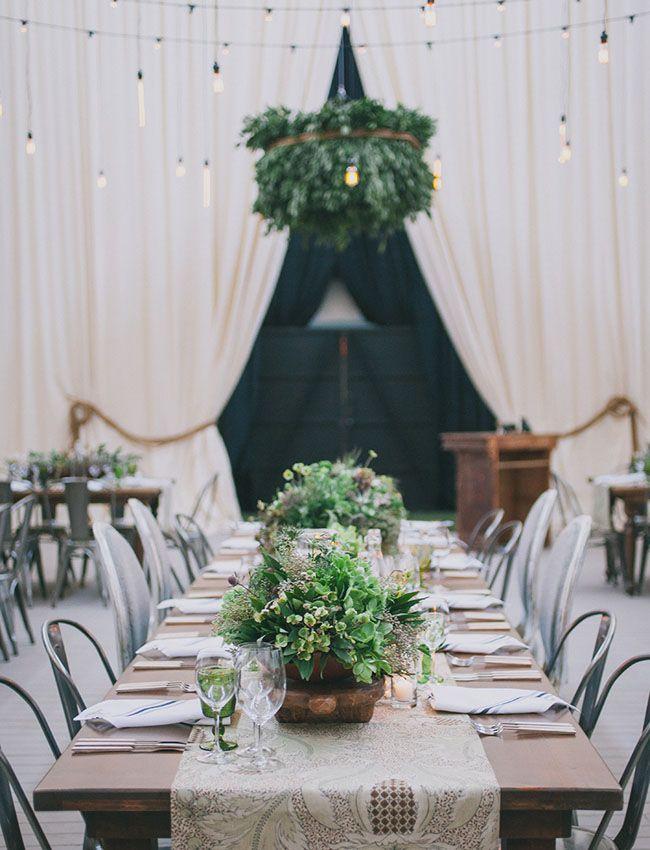 organic green tablescape
