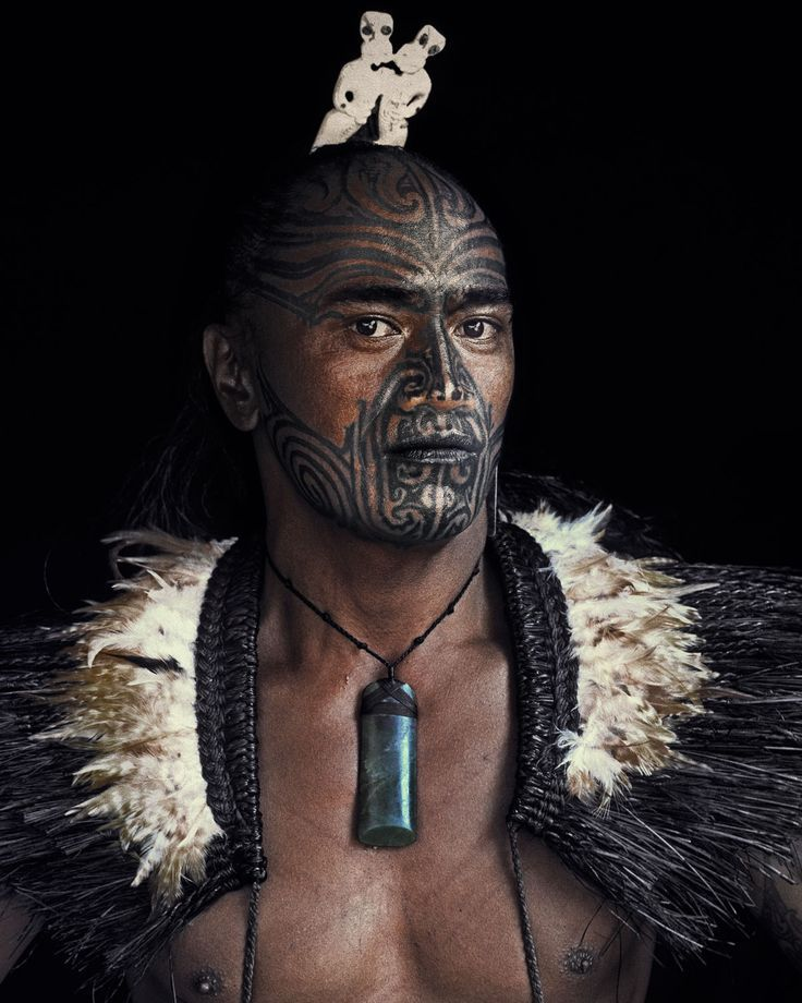 The Maori have various traditions relevant to rituals. Tattooing symbols on their body, intimidating their opponents.