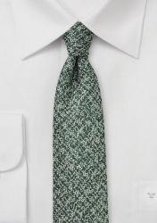 Krawatte Wolle marmoriert tannengrün günstig kaufen