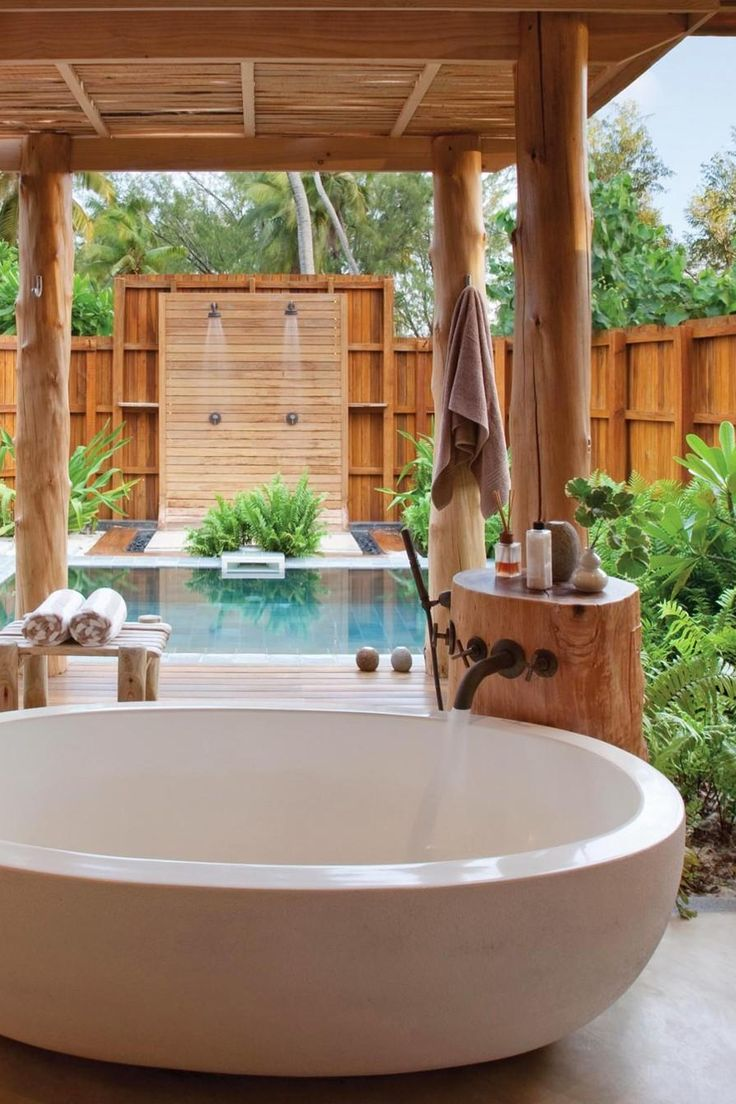 Giant tubs are big enough for two. Or cool off under alfresco his-and-hers showers. Desroches Island Seychelles (Seychelles) - Jetsetter