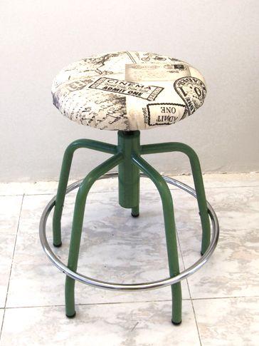 Upcycled School Stool | Oddity-London Shop