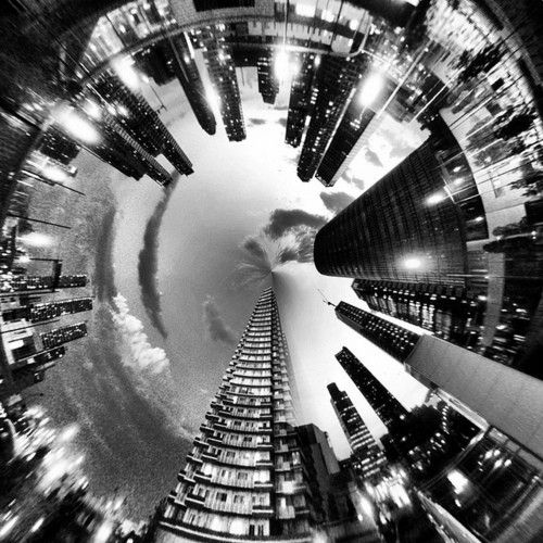#Drama #CityLights. I think they took an i-phone and spun around a couple times while taking this pic:)