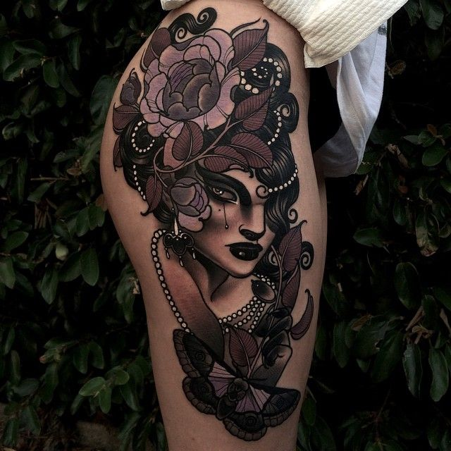 Emily Rose Murray Is Amazing Her Work Is So Solid Flower Tattoos Tattoos Tattoo Designs Leg Tattoos