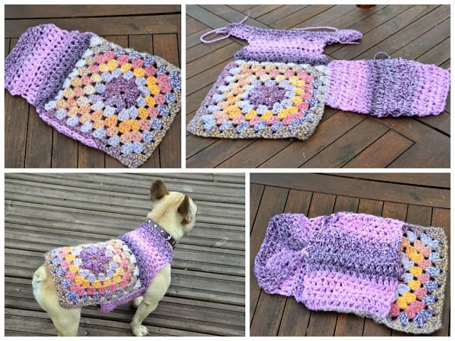 Granny square dog sweater - very similar to what I made but an ACTUAL pattern.