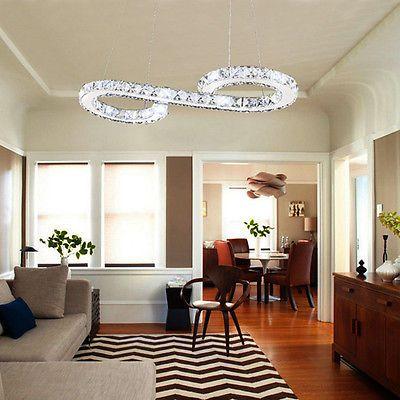 Euro100cm Modern LED Luxury Crystal Chandelier Ceiling Pendant Lighting Lamp Top