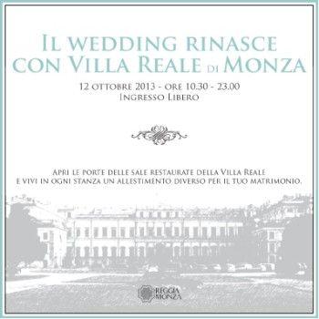 WEDDING DAY in VILLA REALE a Monza il 12 OTTOBRE 2013
