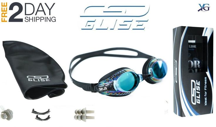 Swim Goggles Swimming Cap Earplugs Case Adult Men Women Kids 9+ Swimming Set | Sporting Goods, Water Sports, Swimming | eBay!