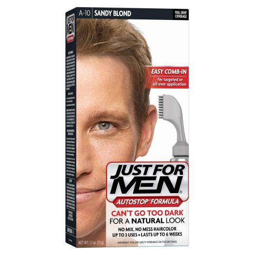 Men's Hair Care, Men's Grooming, Male Personal Care Product Available At https://www.amazon.com/Just-Men-AutoStop-Color-Sandy/dp/B00IGGYAH4/ref=as_sl_pc_tf_til?tag=smartinves0df-20&linkCode=w00&linkId=ec16b2e6f2ec218ab449eef6bb2e23e4&creativeASIN=B00IGGYAH4&th=1
