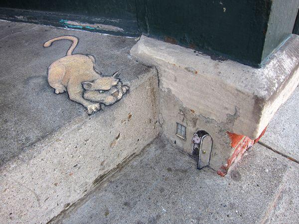Top 16 des oeuvres de street-art à la craie de David Zinn, l'homme qui fait vivre la rue