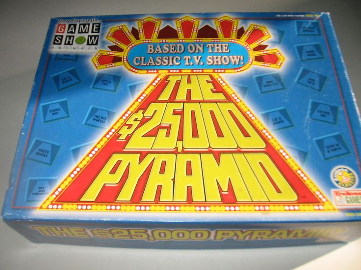 THE 25,000 PYRAMID Game Show Network Tv Show ©2000 Endless Games Made in USA  #EndlessGames
