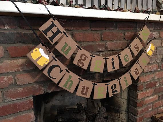 Huggies and Chuggies Decorations Beer and Diaper by ClassicBanners