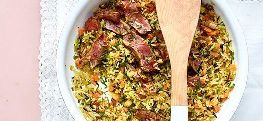 Delhaize - Steak met wilde rijst