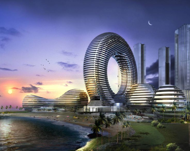 Future Building Designs Circular Future Futuristic City