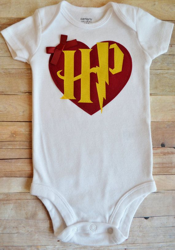 Baby Girls' Harry Potter Inspired Heart and by TheBaerEssentials