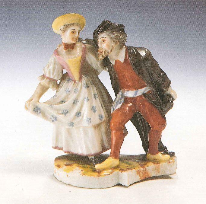 Dalla nostra collezione: Pantalone e Colombina, manifattura di Ludwigsburg, Germania, c. 1770, porcellana dura policroma, Museo Giuseppe Gianetti, Saronno (inv. 239) #dance